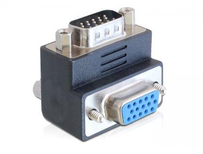 Adapter VGA Stecker an Buchse, 90____deg; gewinkelt, Delock® [65289]