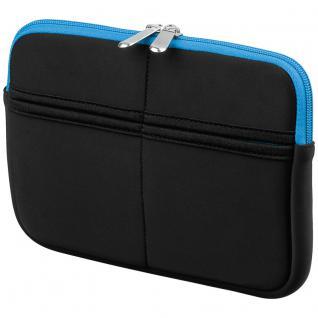 Textilgewebe-Tasche 7' für Apple iPad mini, Samsung Galaxy Tab7, Google Nexus 7, schwarz/blau