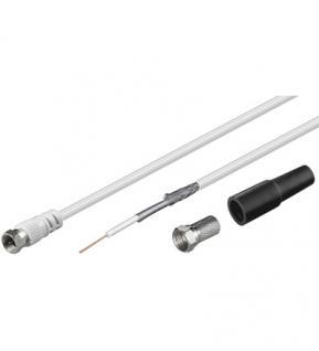 kabelmeister® SAT/Koaxialkabel Set, doppelt geschirmt, Inhalt: 25m Kabel, fertiger Stecker an Litze mit Zubehör