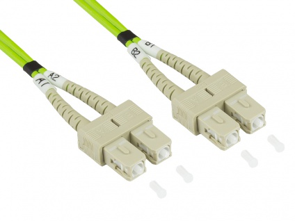 kabelmeister® Patchkabel LWL Duplex OM5 (Multimode, 50/125) SC/SC, LSZH, 15m