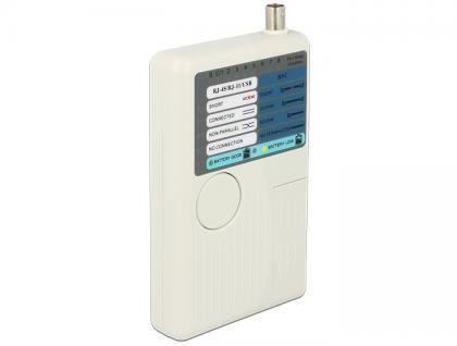 Kabeltester RJ45 / RJ12 / BNC / USB, Delock® [86106]