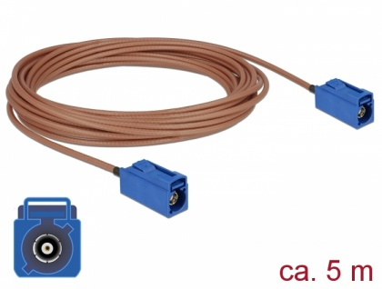 Antennenkabel FAKRA C Buchse an FAKRA C Buchse RG-316 5 m, Delock® [89666]