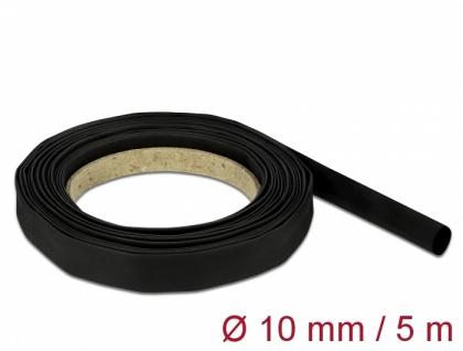 Schrumpfschlauch 5 m x 10 mm schwarz, Delock® [18938]
