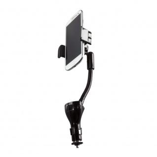 Smartphone Kfz-Halterung mit 2 USB Ladeanschlüssen, 15, 5W, LogiLink® [PA0121]