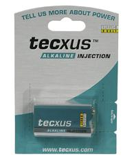 Tecxus® Batterie Alkali 9V Block, 1er Blister
