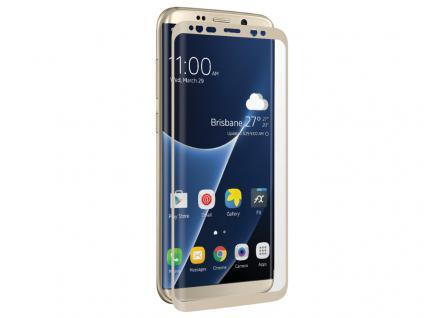 Displayschutzglas 'CurvedGlass Screen' für Samsung Galaxy S8 Plus, gold