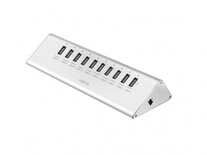 USB 2.0 Hub 10-Port mit Netzteil, LogiLink® [UA0226]