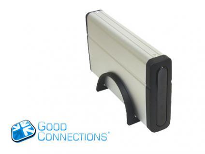 kabelmeister® SATA Festplattengehäuse 3, 5' mit USB 2.0 & eSATA Schnittstelle + Standfuß