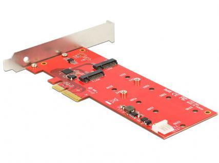 PCI Express Karte an 2 x intern M.2 NGFF Low Profile, Delock® [89388]
