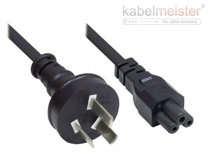 kabelmeister® Netzkabel China Netz-Stecker Typ I (gerade) an C5 (gerade) für Notebook, CCC, schwarz, 0, 75 mm², 1, 8 m