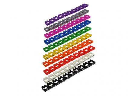 kabelmeister® Kabelmarkierer farbig, Markierung 0 bis 9, 10er Set