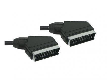 kabelmeister® Anschlusskabel Scart Stecker an Stecker, 0, 6m