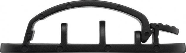 Kabelmanagement Clip 3-Slots, mit 3M Klebefläche, schwarz, 3er-SET