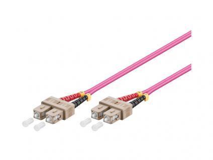 Kabelmeister® Patchkabel LWL Duplex OM4 (Multimode, 50/125) SC/SC, 30m