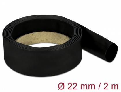 Schrumpfschlauch 2 m x 22 mm schwarz, Delock® [18986]