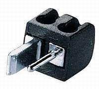 kabelmeister® Lautsprecher Mini Stecker, einzeln, schwarz