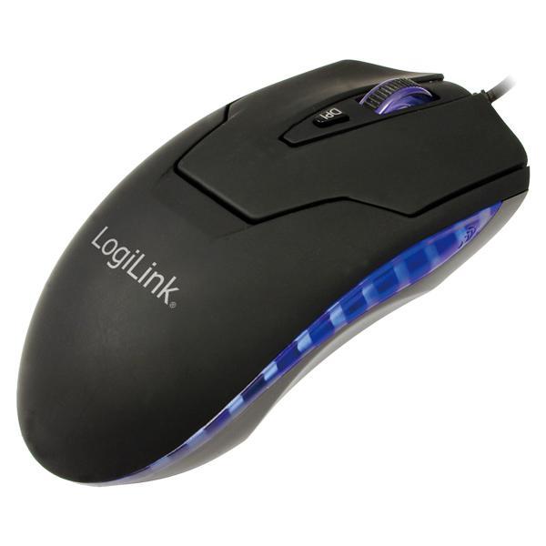 Maus, Laser, USB + PS/2 mit LED, 2000dpi, Logilink® [ID0009A]