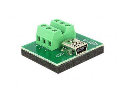 Adapter Mini USB Buchse an Terminalblock 6 Pin, Delock® [65518]