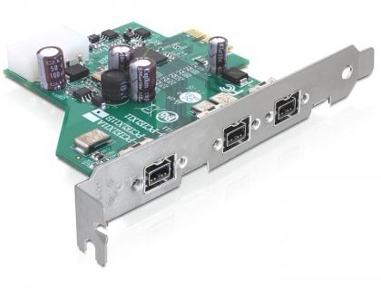PCI Express Card an 3 x FireWire B, Delock® [89210]