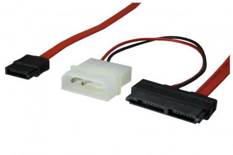 kabelmeister® Micro S-ATA Anschlusskabel, 0, 6m, 5 Volt