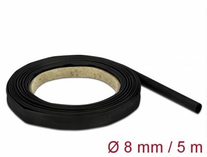 Schrumpfschlauch 5 m x 8 mm schwarz, Delock® [18937]