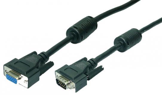 Verlängerung VGA Stecker an Buchse, schwarz, 15m, LogiLink® [CV0021]