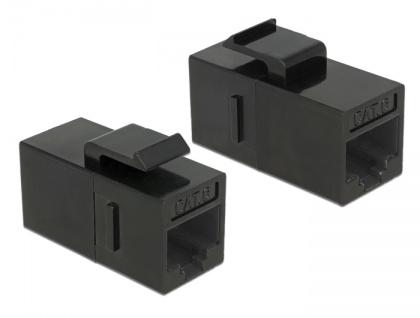 Keystone Modul RJ45 Buchse an RJ45 Buchse, Cat.6 UTP, schwarz, Delock® [86381]