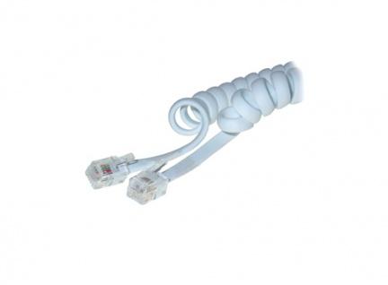 Telefonhörerkabel (Spiralkabel), weiß, 2m, Good Connections®