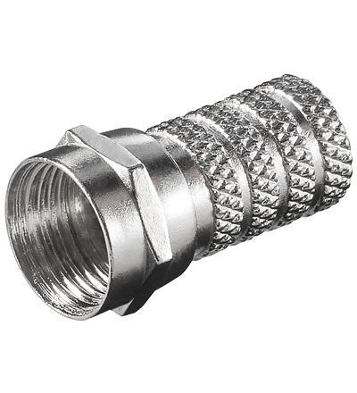 kabelmeister® F-Stecker, vernickelt, für 4, 0 mm Kabel