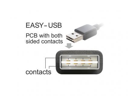 Kabel EASY USB 2.0, Stecker A an Micro Stecker B, schwarz, 0, 5m, Delock® [83845]