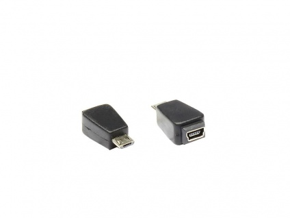 Adapter USB micro-B Stecker zu mini USB 5pin Buchse, Good Connections®