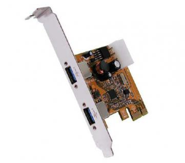 Schnittstellenkarte, USB 3.0 PCI-Express mit 2 Ports (Renesas), Exsys® [EX-11092-2]