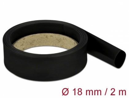 Schrumpfschlauch 2 m x 18 mm schwarz, Delock® [18984]