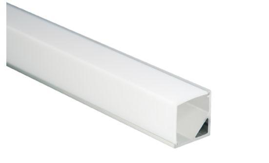 Al-Eckprofil für LED-Leisten, 16 x 16mm, 1m