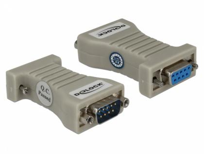 Konverter 1 x Seriell RS-232 DB9 Buchse zu 1 x Seriell RS-422/485 DB9 Stecker mit ESD Schutz 15 kV, Delock® [62920]
