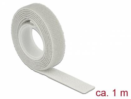 Klett-Kabelbinder L 1 m x B 13 mm, Rolle, grau, Delock® [18274]