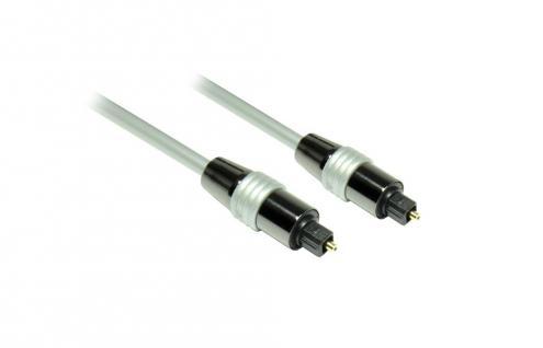 Anschlusskabel Toslink, High Quality, Stecker an Stecker, Ø 6mm, grau, 0, 5m, Good Connections®