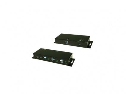 USB 3.0 HUB 7 Port, 1 x B-Buchse, 7 x A-Buchse, 1 x 12V / 3A DC-Jack, Metall, verschraubbar, Exsys® [EX-1189HMVS]