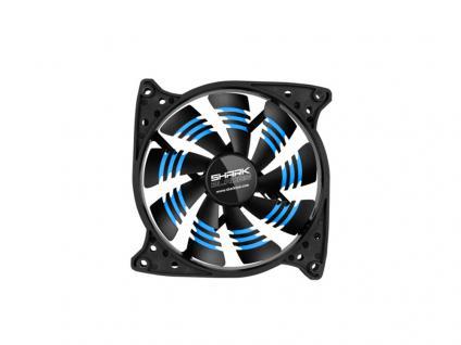 Gehäuselüfter SHARK Blades, 3-Pin-/5, 25'-Anschluss, 120x120x25, blau, Sharkoon®