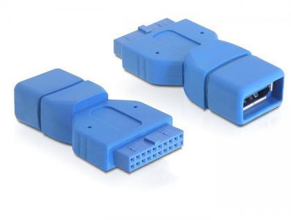 Adapter USB 3.0 Pinheader 19 Pin Buchse an USB 3.0-A Buchse, Delock® [65288]