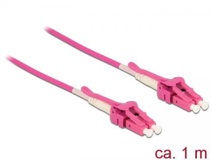 Kabel Lichtwellenleiter LC an LC Multimode OM4, Uniboot, 1m, Delock® [85132]