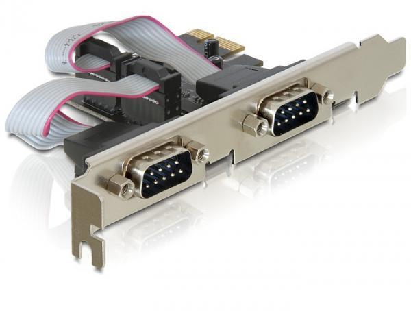 PCI Express Card zu 2x Seriell, Delock® [89220]