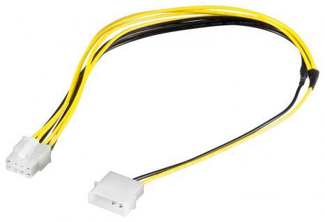 kabelmeister® Internes Stromkabel 5, 25' Stecker auf 8pol EPS Stecker, 0, 4m