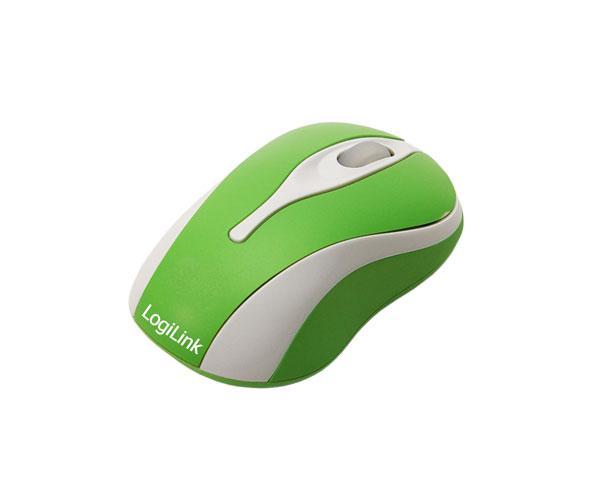 LogiLink® Optische USB Mini-Maus mit LED, GREEN [ID0024]