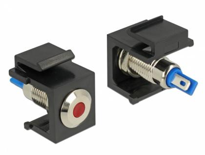 Keystone LED rot 6 V flach, schwarz, Delock® [86464]