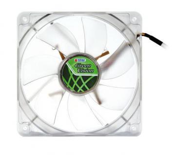 Lüfter, Green Vision, 92x92x25mm, transparent, Titan® [TFD-9225GT12Z/V2(RB)]