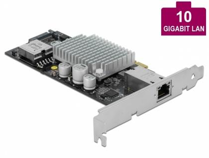 PCI Express Karte an 1 x 10GBase-T LAN PoE+ RJ45, Delock® [90434]