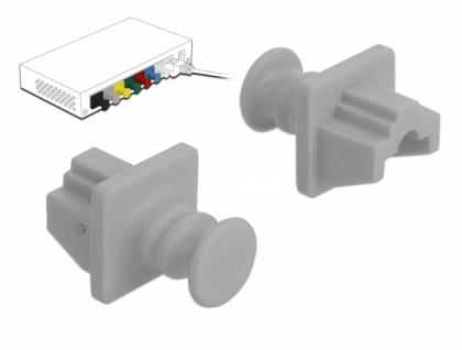 Staubschutz für RJ45 Buchse 10 Stück grau, Delock® [86508]