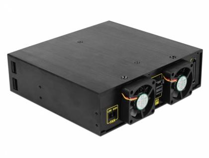 5, 25' Wechselrahmen für 4 x 2, 5' SATA / SAS HDD / SSD 12 Gb/s, Delock® [47233]