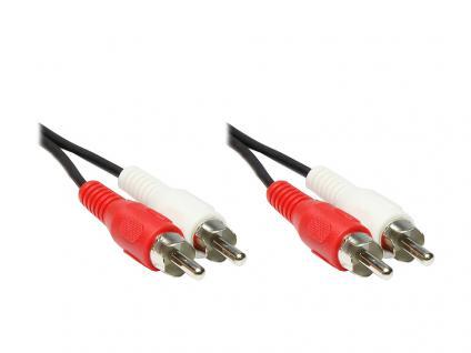 kabelmeister® Stereo Cinchkabel, 2x Cinch Stecker an 2 x Cinch Stecker, 0, 5m